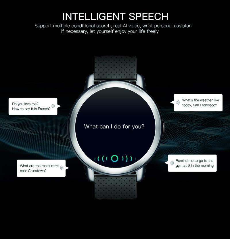 LEMFO LEM8 4G Smart Watch Android 7.1.1 GPS Smartwatch Men 2GB 16GB 580Mah Battery 1.39 Inch AMOLED Screen Sport Watch 10