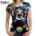 Teste padrão do cão camiseta da colheita top tumblr forudesigns animetion 3d design t-shirt elástica respirável roupa mujer das mulheres roupas