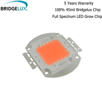 10pcs 50w 100w Hydroponics Bridgelux LED Beads LED COB Grow Chip full spectrum 400nm~840nm cover plant all stage greenhouse
