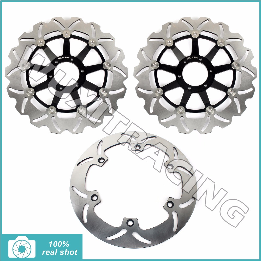 1997 1998 1999 2000 2001 2002 2003 Full Set Front Rear Brake Discs Rotors for Honda GL F6C 1500 Valkyrie Interstate Tourer CI CT hot sales for honda vtr1000f 97 05 1997 1999 2000 2001 2002 2003 2004 2005 vtr1000 f vtr 1000 f 1000f full red fairings