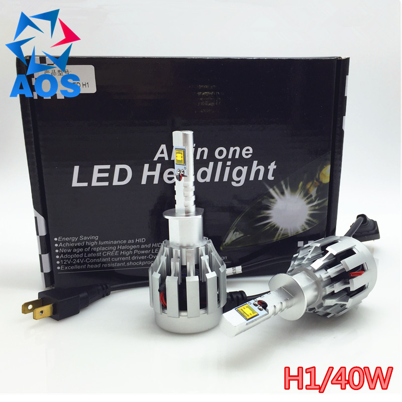 40W 6000LM LED Car Headlight Bulb H1 All-in-one Replacement Headlamp ETI LED BULB Fog Headlamp