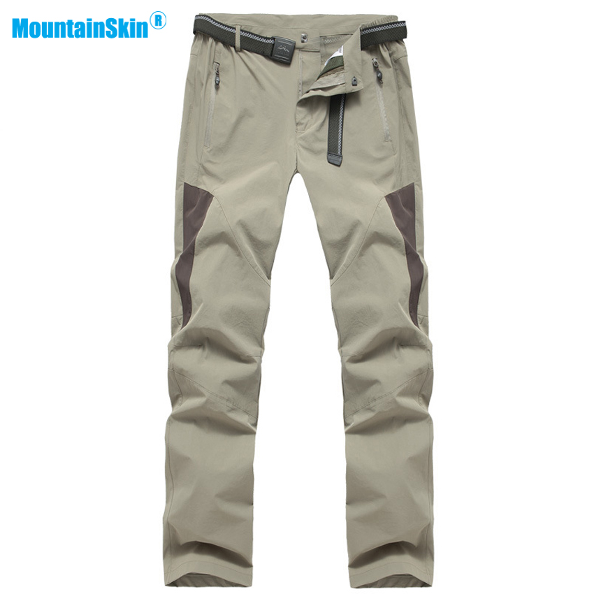 2017 High Quality Mens Summer Quick Dry Pants Outdoor Sport Waterproof Hiking Fishing Climbing Camping Thin Male Trousers MA130