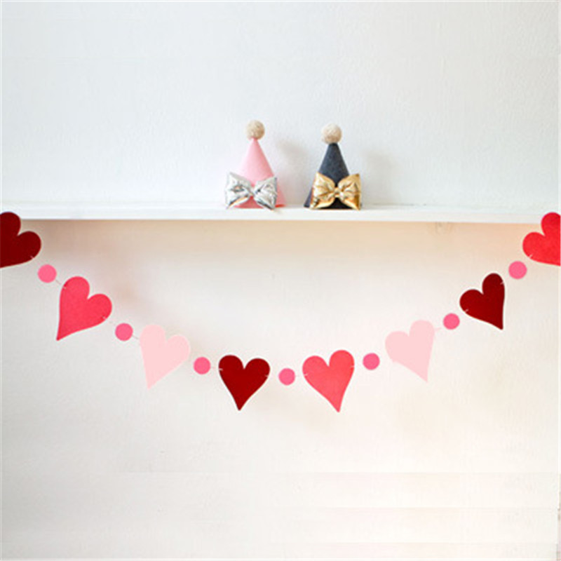 Diy Wedding Word Banners: DIY Paper Love Heart Bunting Banners Wedding/Kids Birthday