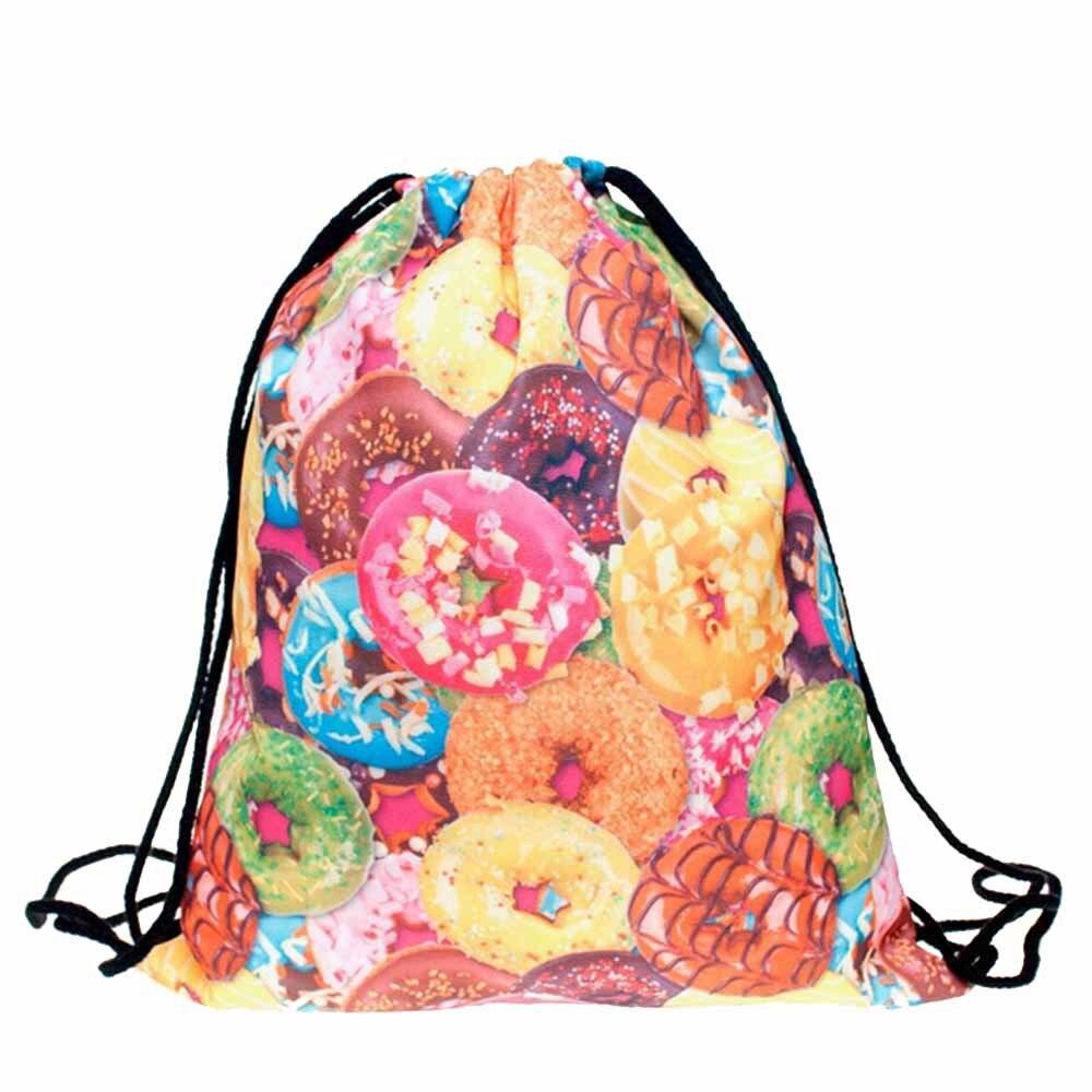 Fashion Unisex Men Women backpack Emoji 3D Printing Cat Backpack for girls Drawstring Bag School Backpacks Travel Bag New hot монитор asus 18 5 vs197