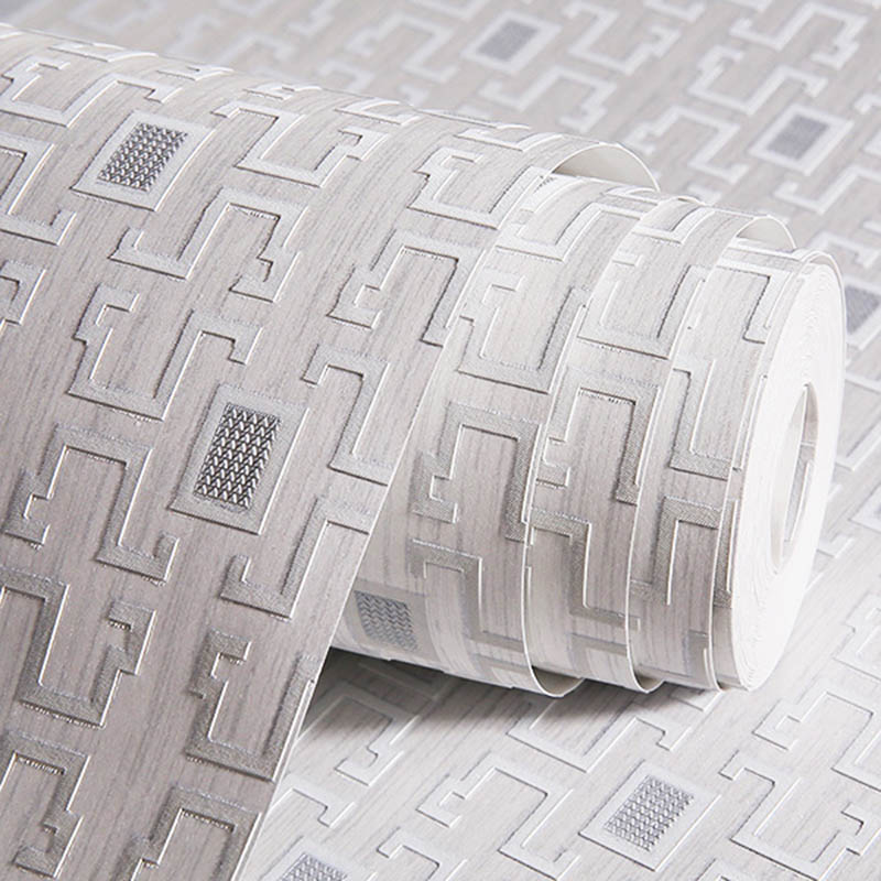 Modern Chinese Style Lattice Wallpaper 3D Embossed Non Woven Living Room Study Room Eco-Friendly Wall Papers Roll Drop Shipping