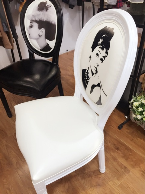 2xChairs American And European Manicure Makeup Chair Solid Wood Dining Table Chair Hepburn Monroe Furniture Modern Chair Fashion