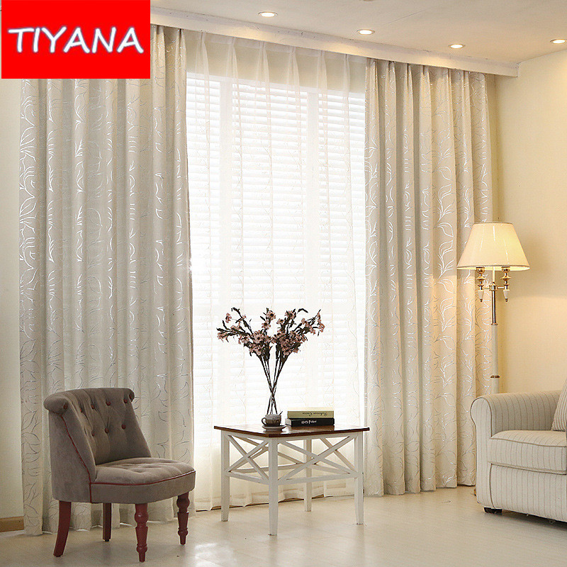 Thicken Blinds Curtains For Living Room Leave Jacquard
