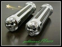 1 пара хром череп ручками вт/потрясающие sku для honda тень 600 750 1100 VTX 1300 1800 GL 1200 1500 новый
