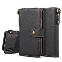 Luxury Leather Wallet Phone Cases For IPhone X 6 6S Plus 7 8 Plus Flip Cover