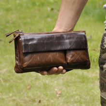 Retro Ölwachs Echtem Leder Multi-task-handschuhe Funktion Brust Taille Gürteltasche Telefon Kamera Nahm Kit Gürtel Sling Schulter tasche