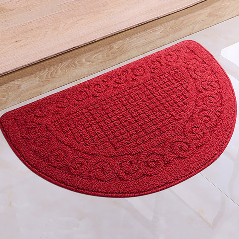 Us 6 73 38 Off Home Decorative Rug Latex Back Non Slip Entrance Doorway Mat Half Moon Doormat Carpet For Bedroom Bathroom Kitchen In From