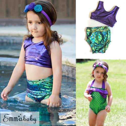 2c6e12e3e5 Detail Feedback Questions about Little Kids Baby Girls Summer Mermaid  Swimwear Beach Bikini Tankini Swimsuit Swimming Costume on Aliexpress.com |  alibaba ...
