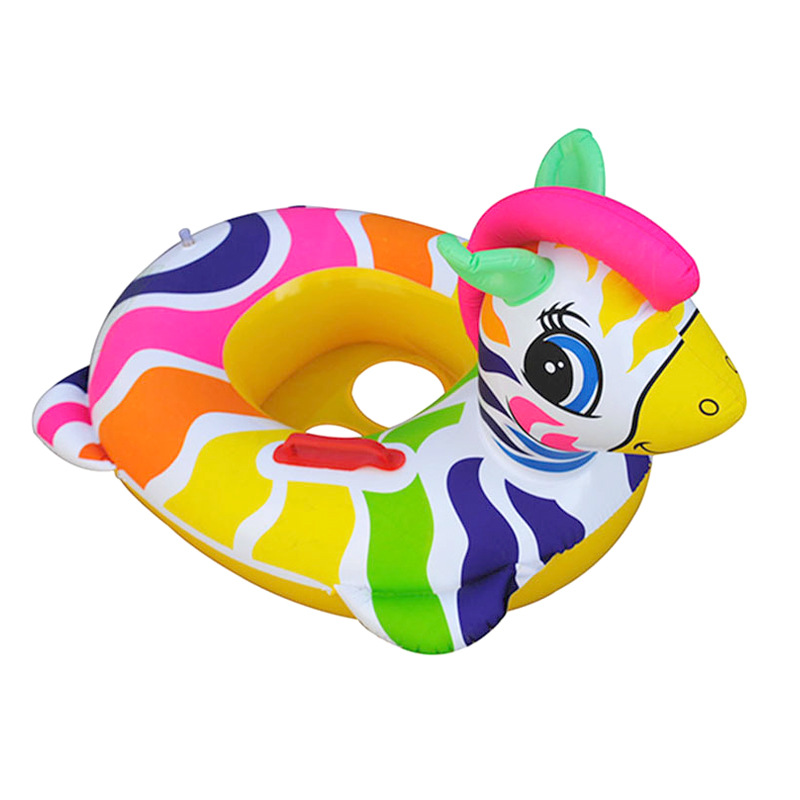 New Inflatable Zebra Swimming Ring Baby Swimming   Inflatable Ride-ons  Children Inflatable Toy