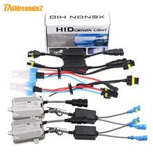 Buildreamen2 55W H7 Canbus HID Xenon Kit Anti Flicker AC Ballast Bulb Decoder 3000K 4300K 6000K 8000K Car Headlight Fog Light