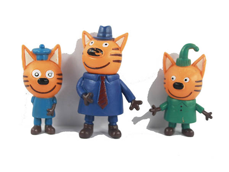 5pcs bag 6 8cm Russian Cartoon Anime Action Figures Cake Figurine Baking Decor Three Little Kittens Model kids toy in Action Toy Figures from Toys Hobbies