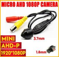 HD Metal Bullet 1080P 1920*1080 Surveillance AHD Mini CCTV Camera H.264 3.7mm/1.8mm Lens 2.0MP Wired Color Super small Camera
