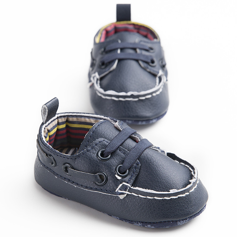 New PU Leather First Walkers Soft Bottom Baby Shoes Boy Girl Toddler Baby Moccasins Navy Infant Shoes Sapato Infantil Menino