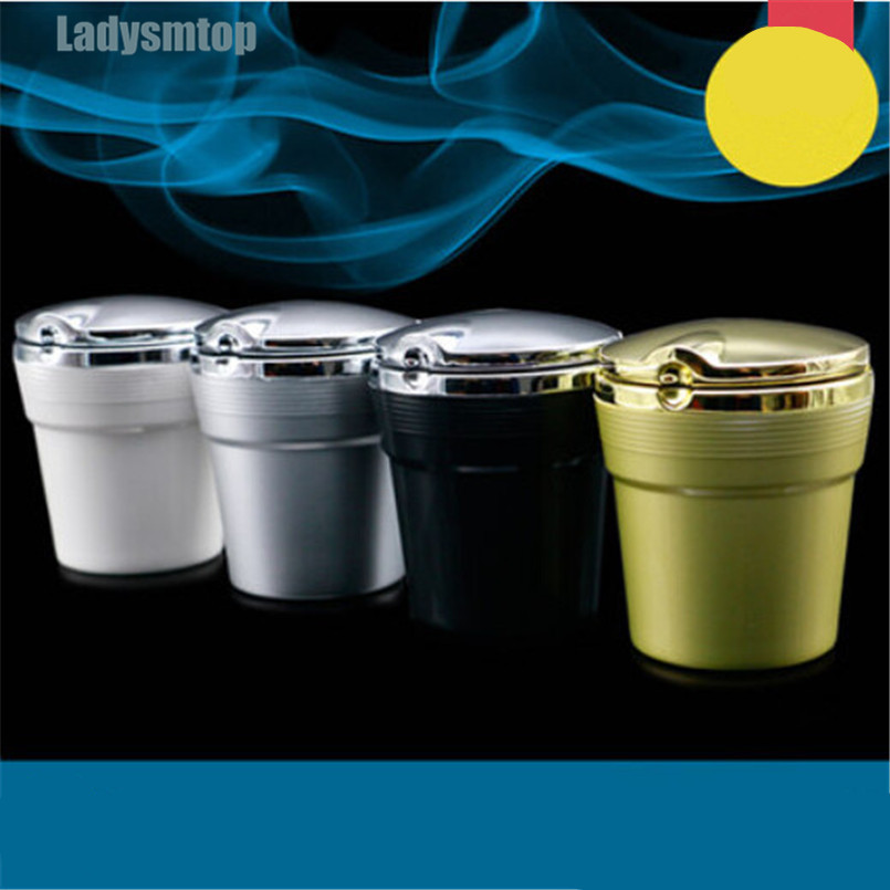 Ladysmtop Car Ashtray With LED Blue Light Case For Acura