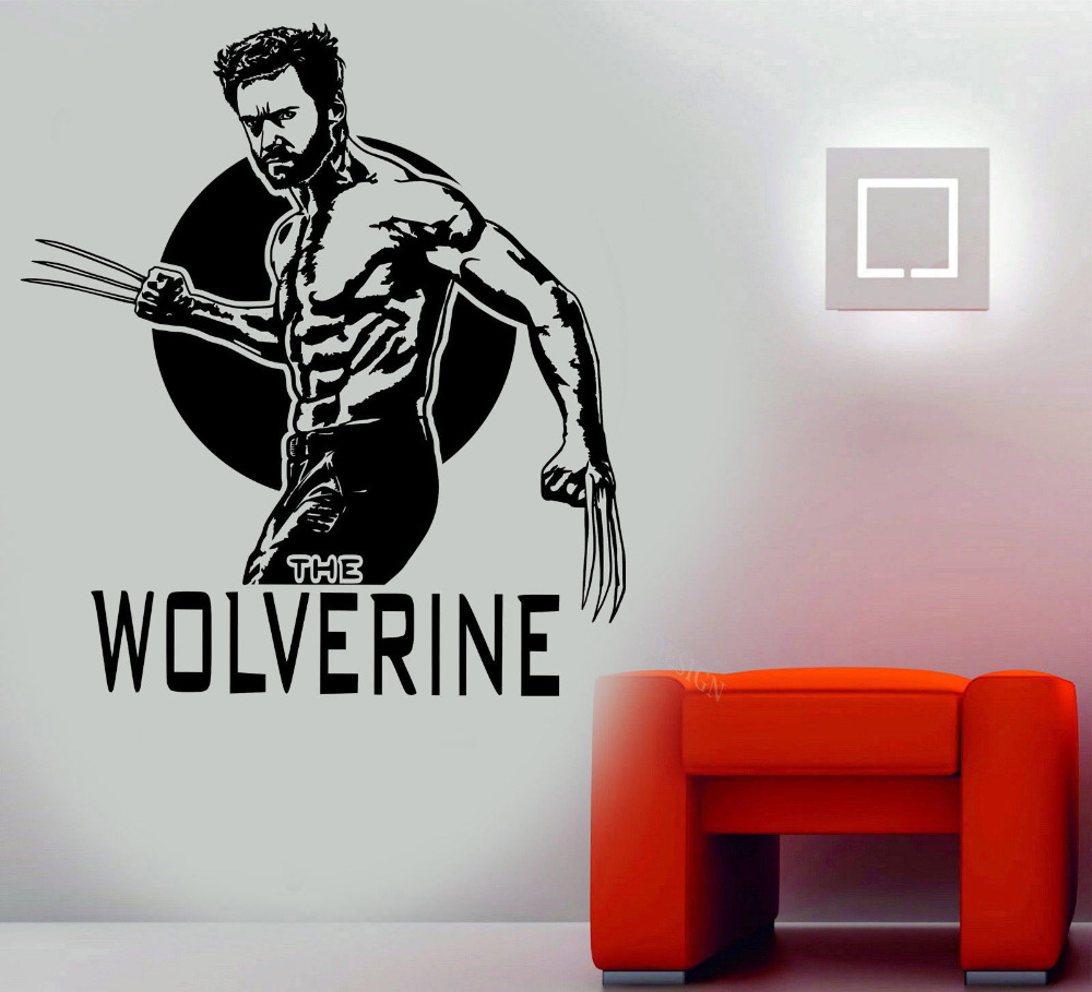 WOLVERINE X MEN Vinyl Wall Art Decal Custom Color Wall Stickers Home Decor  Living Room For Boys Bedroom Teens Room Decor A241 In Wall Stickers From  Home ... Part 86