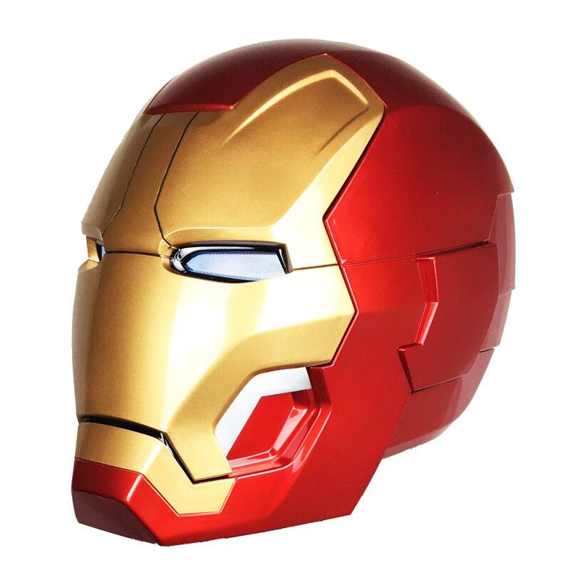 Avengers 4 1:1 Halloween Party zeer hoge kwaliteit Iron man masker mk42 helm wearable model touch elektrische open masker marvel