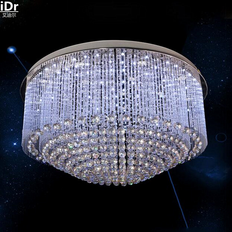 Image 2 - Circular light engineering factory direct low pressure crystal lamp lighting the clear light glass rod Ceiling Lights Rmy 0126-in Ceiling Lights from Lights & Lighting