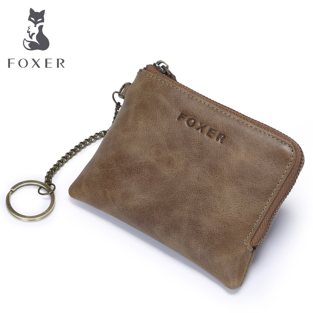 Men Genuine Leather Coin Purse High Quality Designer Zipper Mini Wallets For Male Card Bag bosca old leather coin purse