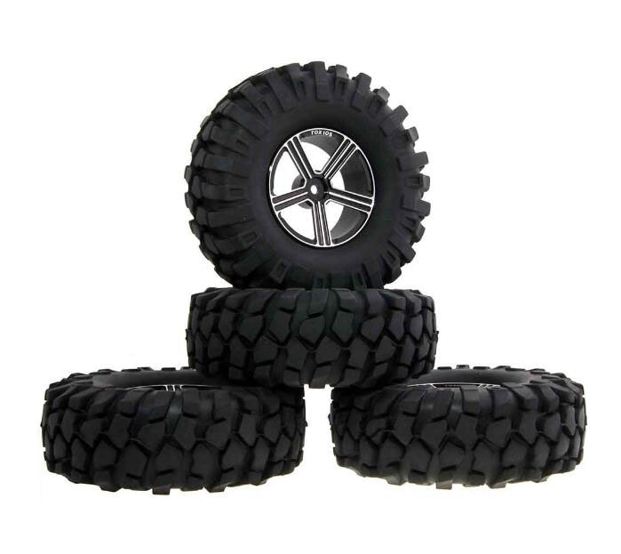 Free Shipping 4 Pcs 1.9 inch 1.9 RC Crawler Truck Tires 108mm Tire Skin+Aluminum Alloy Wheel Hubs+Foam Spare Parts for RC Car j k lasser s year–round tax strategies 2000