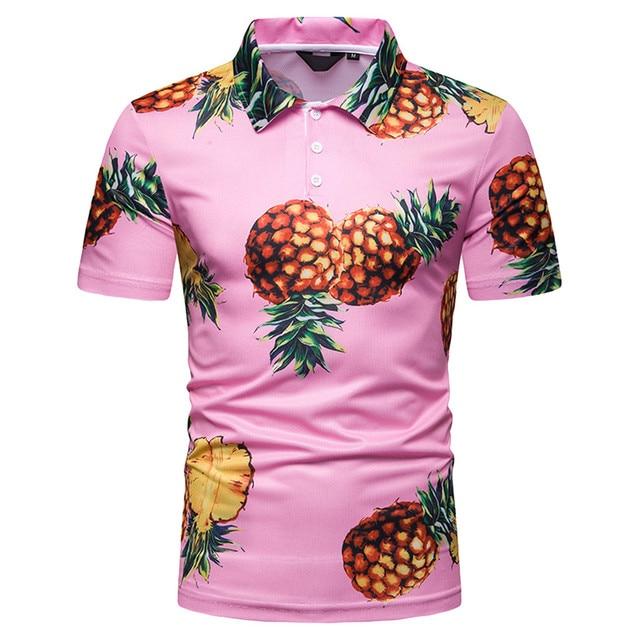 6ee18d579e Camisa dos homens Polo 2019 Verão Moda de Manga Curta Pintura Tamanho  Grande Casual Top Blusa Camisas