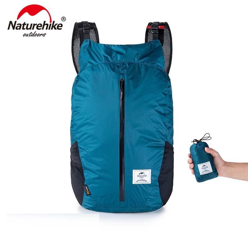 Naturehike Lightweight Sports Bag Cordura Fabric 30D Nylon Running Bag Folding Pack Fashion Backpack City Bag NH18B510 B