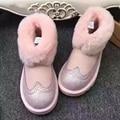 UVWP New Top Quality Mulheres botas de neve Pele do Inverno Naturais botas Mulheres Ankle Boots Moda das Mulheres Quente Sapatos de Lã Quente botas