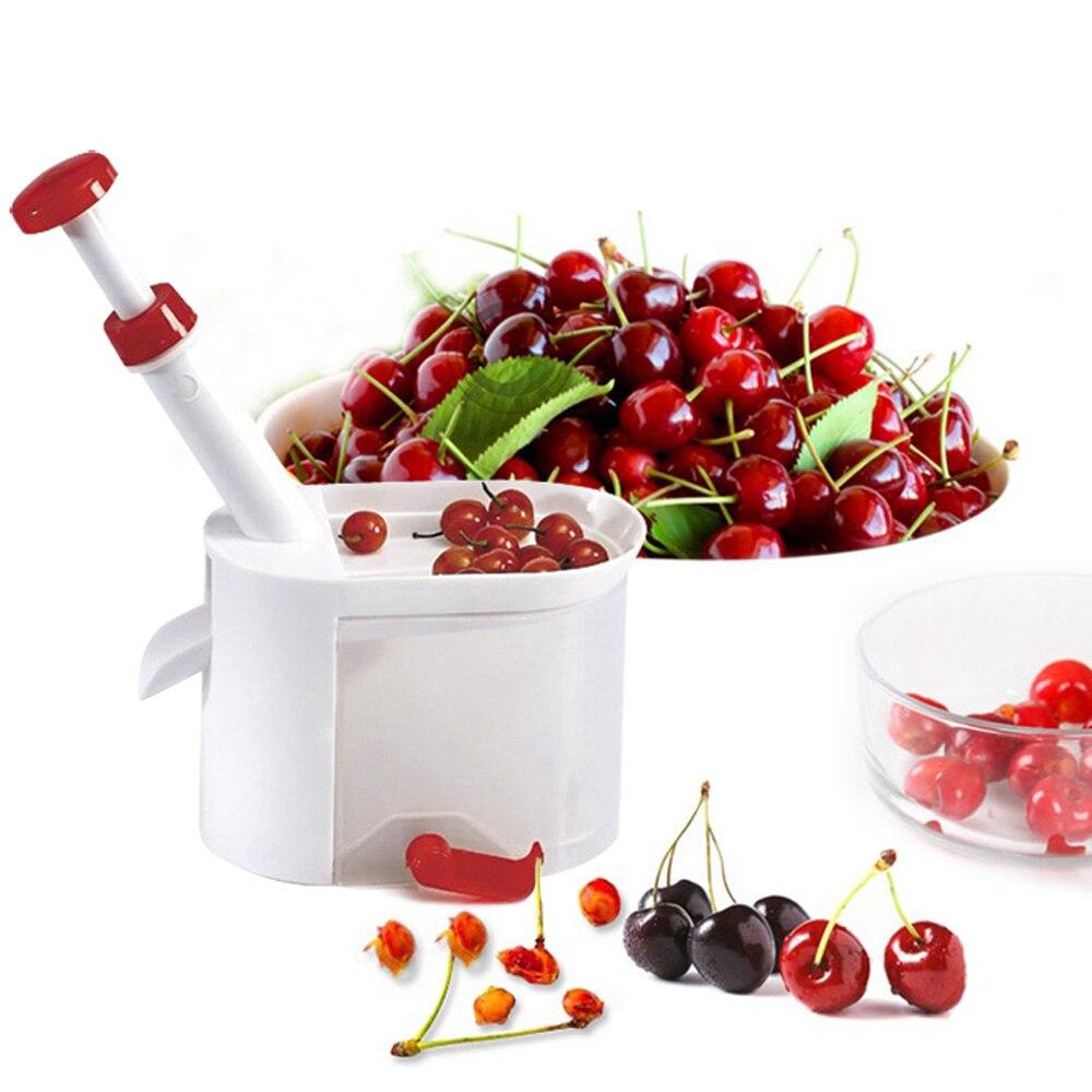 Qualität Kirschentkerner Samen Entferner Maschine Obst Kern Corer Mit Container Küche Zubehör Gadgets Werkzeug für Küche