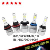 Car LED Headlight Kit H4 H7 H11 H13 9005 HB3 9006 HB4 COB LED Head Lamp