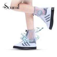 Soumit Fashion Rainproof Shoe Cover for Men Women Shoes Protector Durable Reusable Waterproof Boot Covers Rain Boots Overshoes