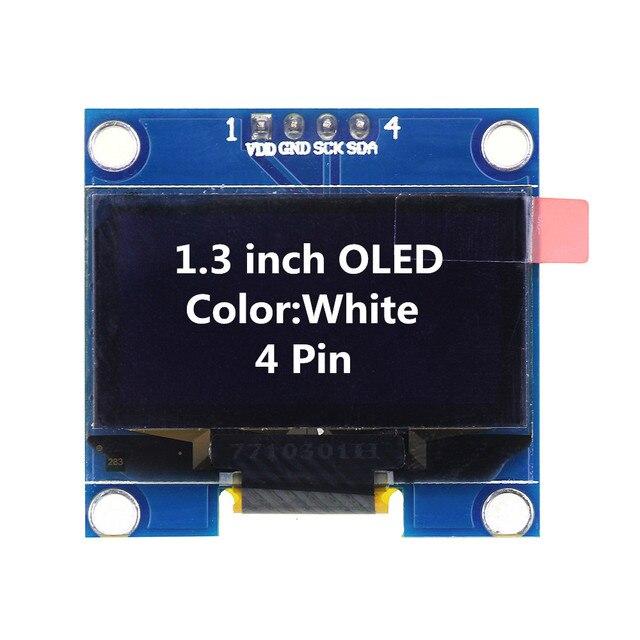 1.3 pouce OLED Module Blanc Couleur 128X64 OLED LCD LED Module D'affichage 1.3 IIC I2C SPI Communiquer pour arduino Diy Kit