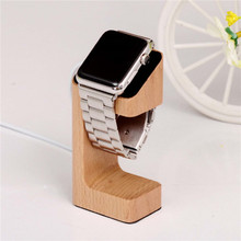 Natural Wood Holder For Apple Watch