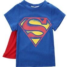 Футболка для мальчиков модель года футболка с Суперменом Бэтменом детские футболки с коротким рукавом с объемным изображением героев мультфильмов детская одежда новинка