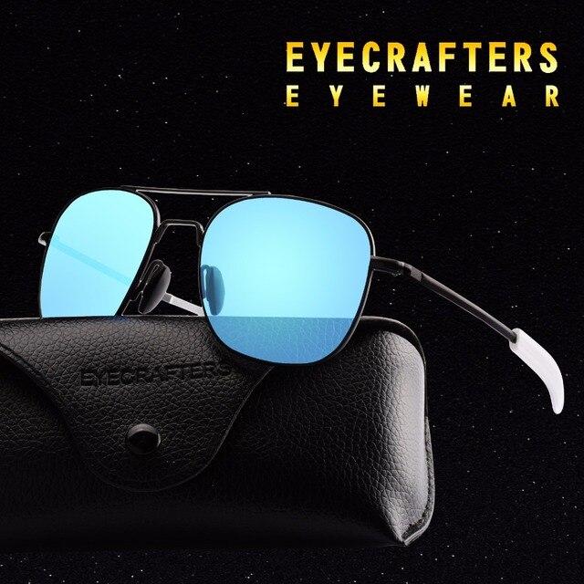 Blue Brand Designer Polarized Sunglasses Mens Pilot Military Sunglasses  Driving Mirrored Glasses Eyewear 273 8b1d97341