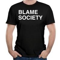 Tailored Shirts O Neck Comfort Soft Short Sleeve Mens Blame Society Shirt
