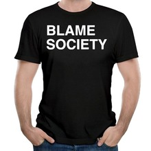 Tailored Shirts O-Neck Comfort Soft Short Sleeve Mens Blame Society Shirt