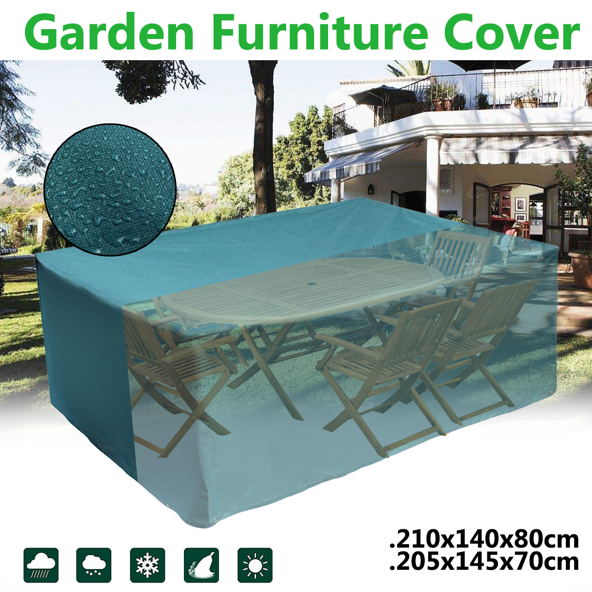 Outdoor Garden Furniture Rain Cover Waterproof Oxford Wicker Sofa Chair Table Protector Garden Patio Rain Snow Dustproof Covers