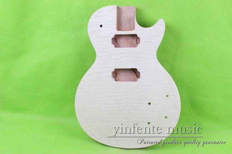 купить one 22# unfinished  electric guitar body  mahogany made   and maple top дешево