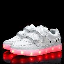 2017 Filles light up led lumineux shoes couleur lumineux casual mode avec nouvelle simulation seul responsable pour Garçons enfants néon enfants