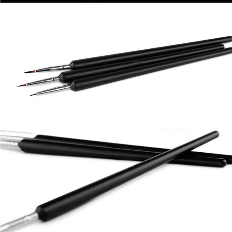 3 шт кисти для ногтей силиконовая голова ногтей мягкая норка меховая щетка карандаш с металлической ручкой