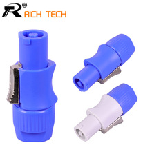 20PCS SpeakON Male Plug PowerCON Type A NAC3FCA+NAC3MPA 1 Chassis Plug Panel adapter 4 Pin Powercon Speaker Connector