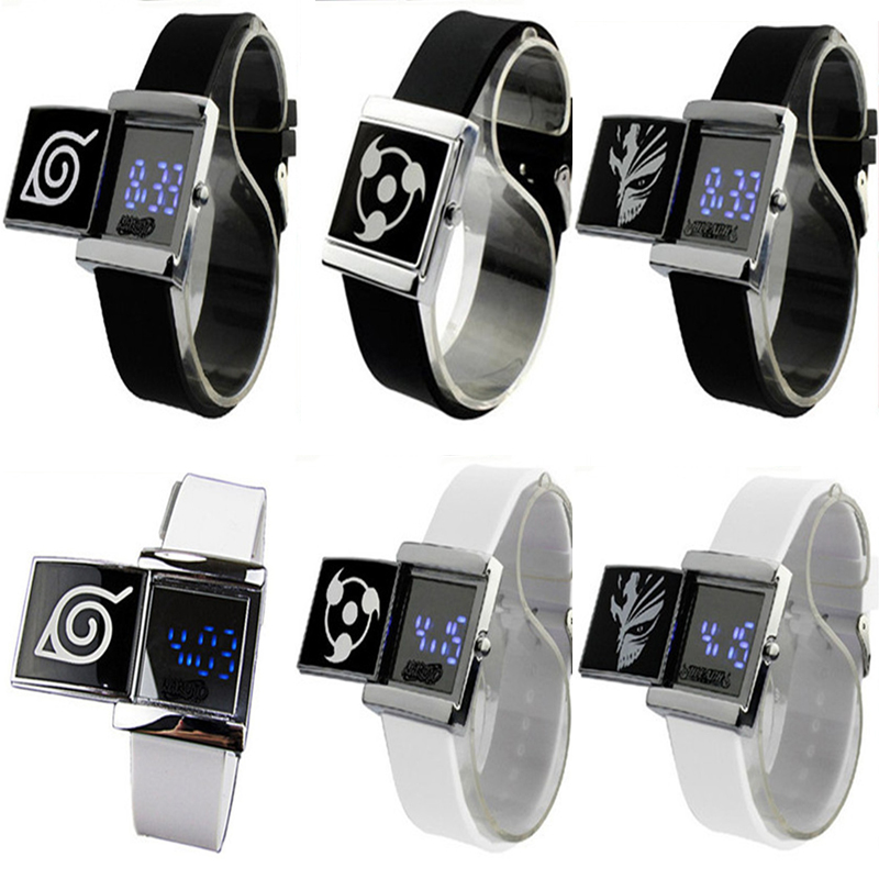 3*3cm LED Lighted Electronic Watch Japan Anime Naruto