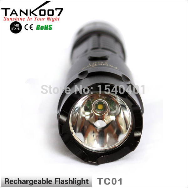 new tank007 TC01 Lanterna Rechargeable Outdoor Police LED Flashlight 5-modes 1*18650 фонарик hedeli recarregavel lanterna lanterna maglite lanterna hw312a4