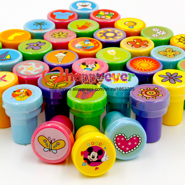 Felizever 36PCS Self ink Stamps Kids Party Favors Event Supplies for