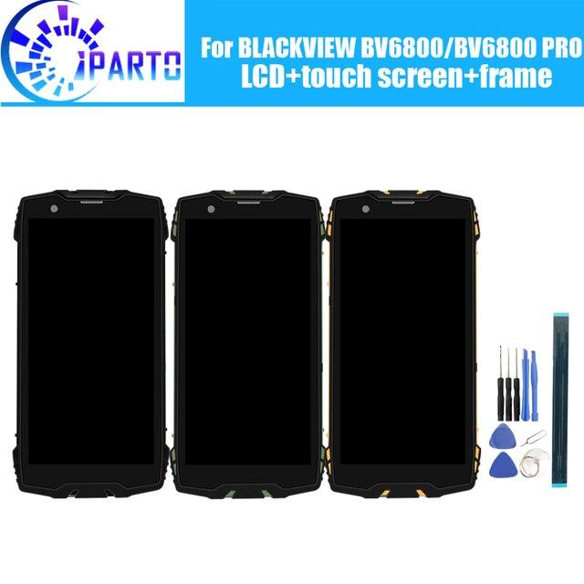 Pantalla LCD BLACKVIEW BV6800 + Digitalizador de pantalla táctil + montaje de Marco 100% LCD Original + digitalizador táctil para BLACKVIEW BV6800 PRO
