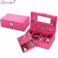 Joyas guanya Accesorios caja pulseras/Collar/brazalete/Anillos/Pendientes almacenamiento ataúd para Decoración regalo de boda cumpleaños