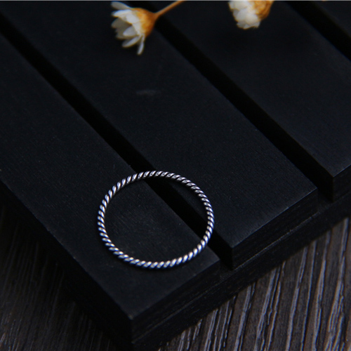 New arrival 925sterling silver jewelry vintage twisted circle finger rings for Lady thin knuckle rings Mother 39 s Day gifts in Rings from Jewelry amp Accessories